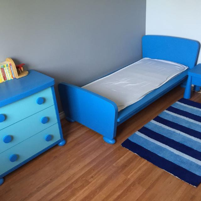 Find more ikea mammut toddler bed frame euc 75 for sale for Ikea blue bed