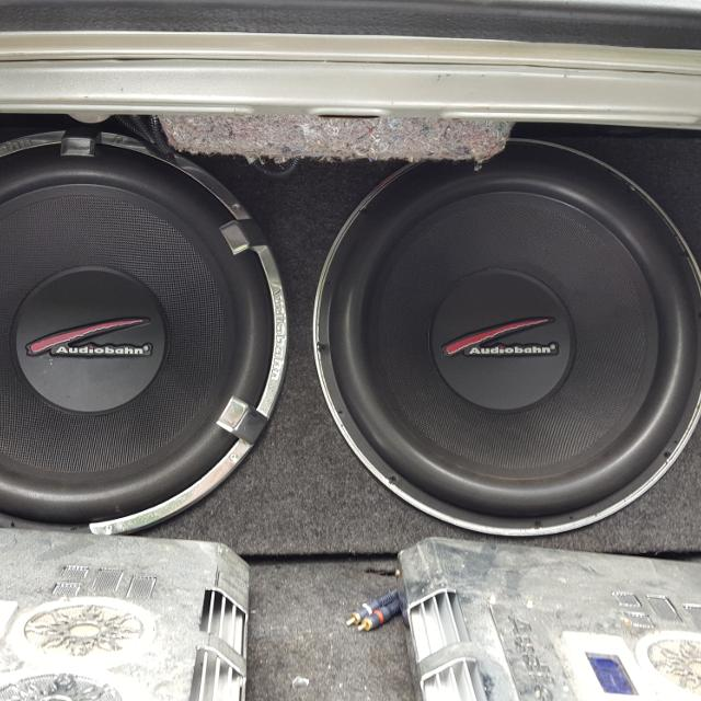 Best Audiobahn 15 Inch Subs With Encloser for sale