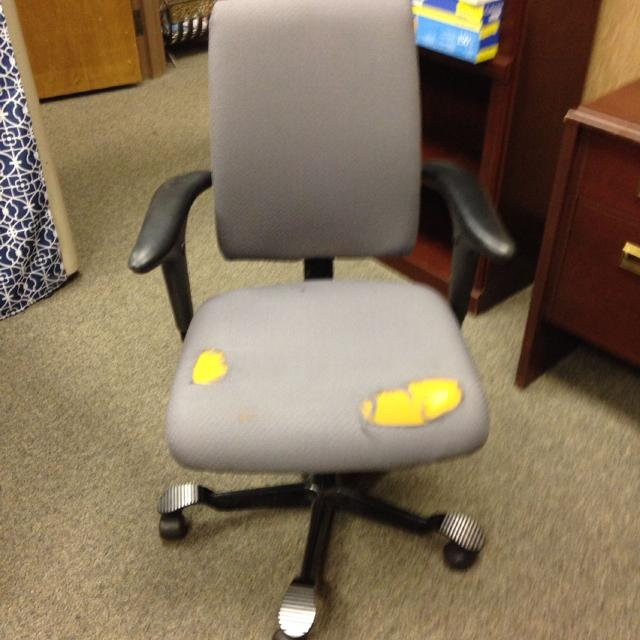 Office Chair Very Expensive But Ripped Seat