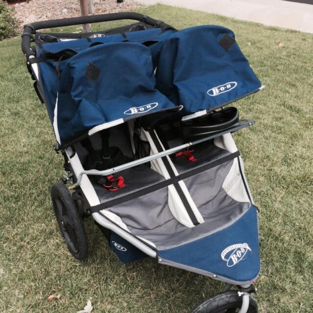 Bob Jogging Stroller Double Bob Revolution Stroller With Car Seat Cup Holder Adapter And Handlebar Console Price Reduced