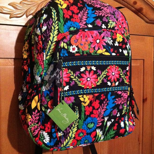 Find more Vera Bradley Campus Backpack In Field Flowers (exclusive ... bb7db239e41ce