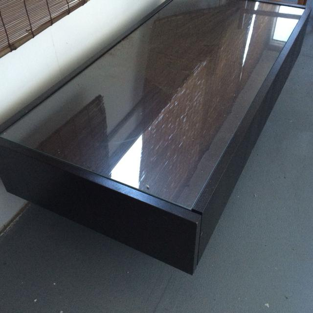 Find More Ikea Coffee Table Great Condition Glass Top 2 Pull Out Drawers At Ends And Area At