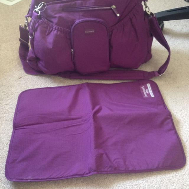 Frommers By Lug Purple Diaper Bag