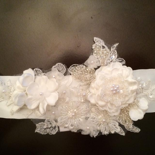 Gorgeous Ivory David S Bridal Wedding Dash Belt