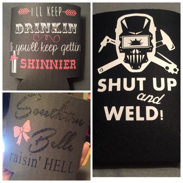 Personalized Koozies With Monograms Or Sayings Don T Forget About Football And Bonfire Season