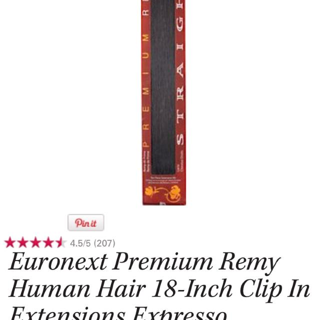 Best Brand New Euronext 18 Inch Clip In Hair Extensions Color