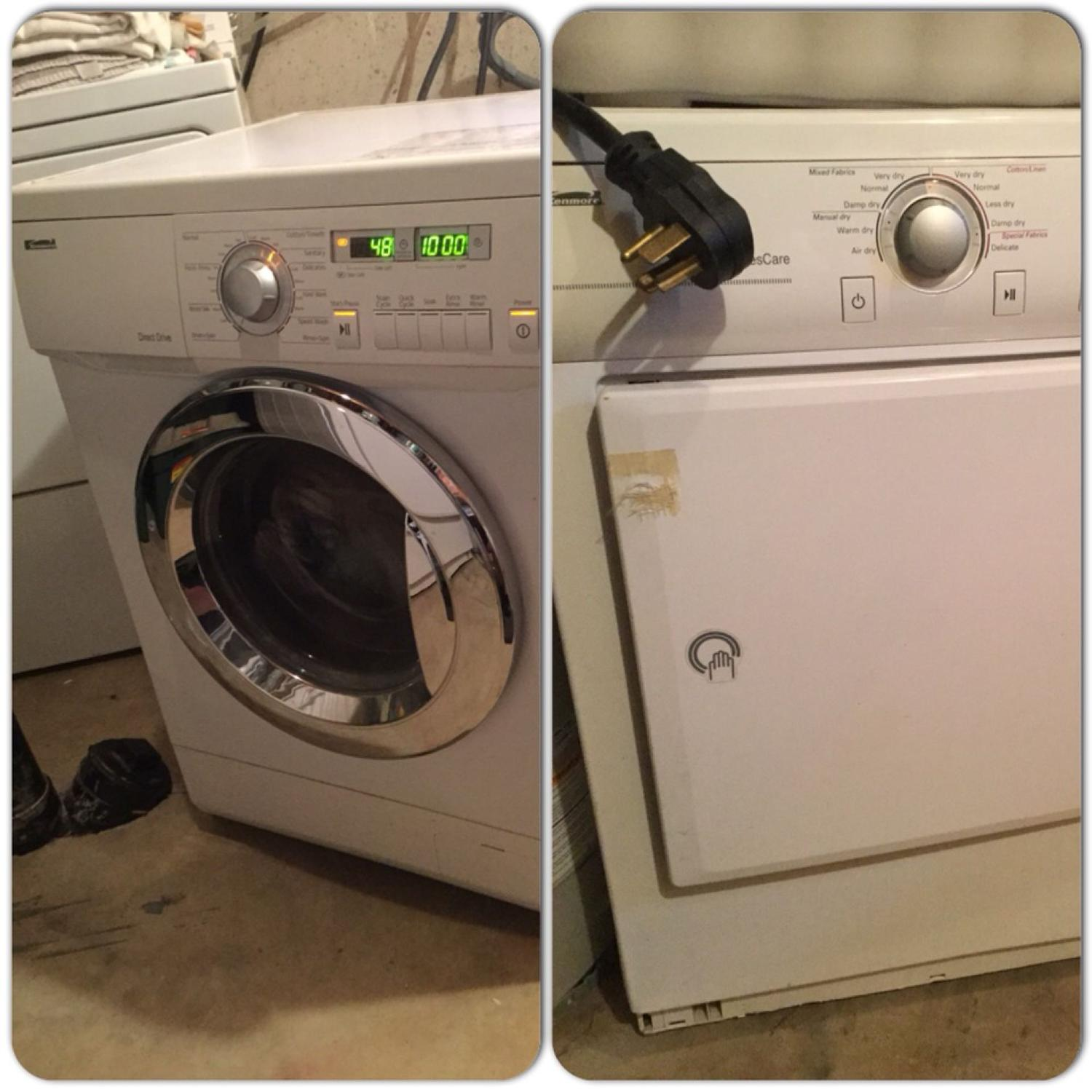 Reduced Price 250 00 Apartment Size Kenmore Direct Drive Washer Clothes Care Dryer For Both