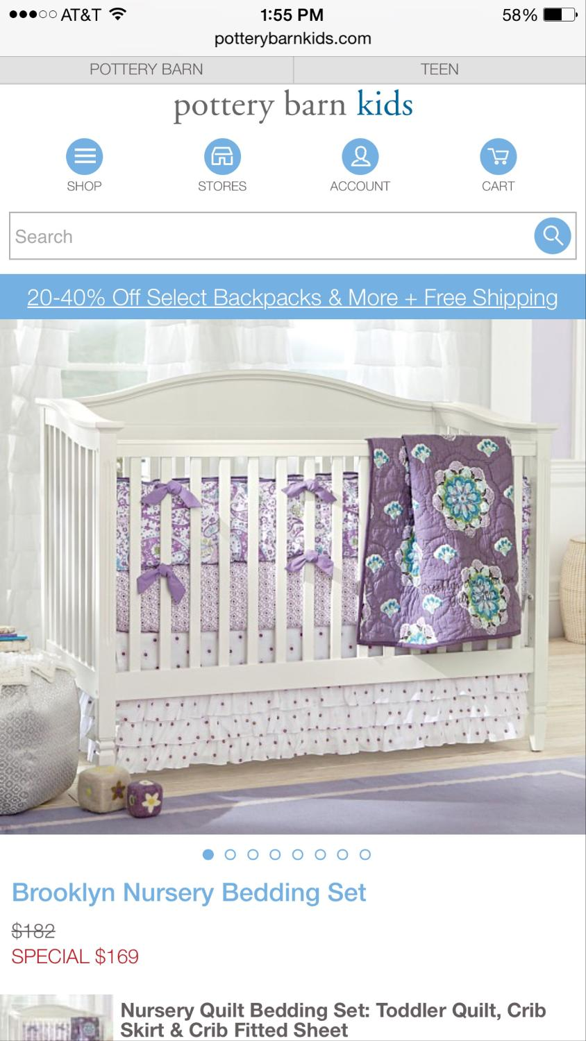 find more pottery barn brooklyn nursery bedding set for sale at up