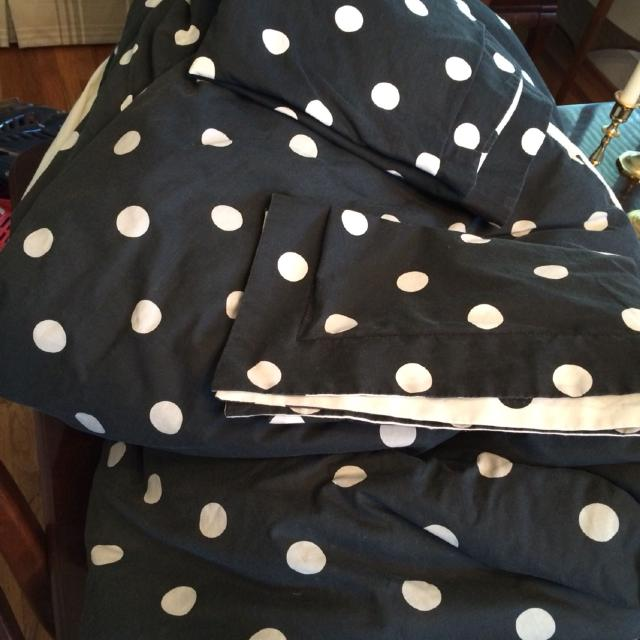 Find More Black And White Polkadot Queen Size Comforter Two