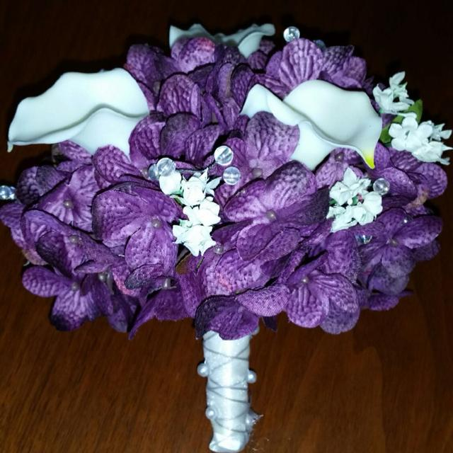 Best Lots Of Dark Purple Themed Wedding Decor Enough Decorations To