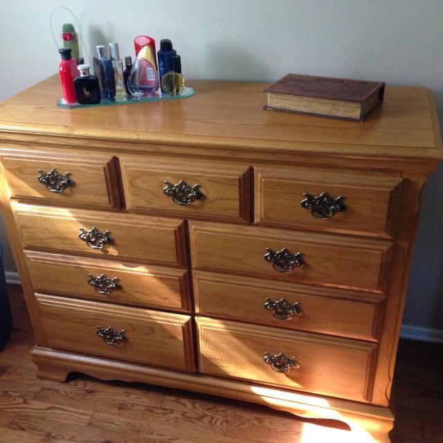 Best Solid Oak Dresser Set With Twin