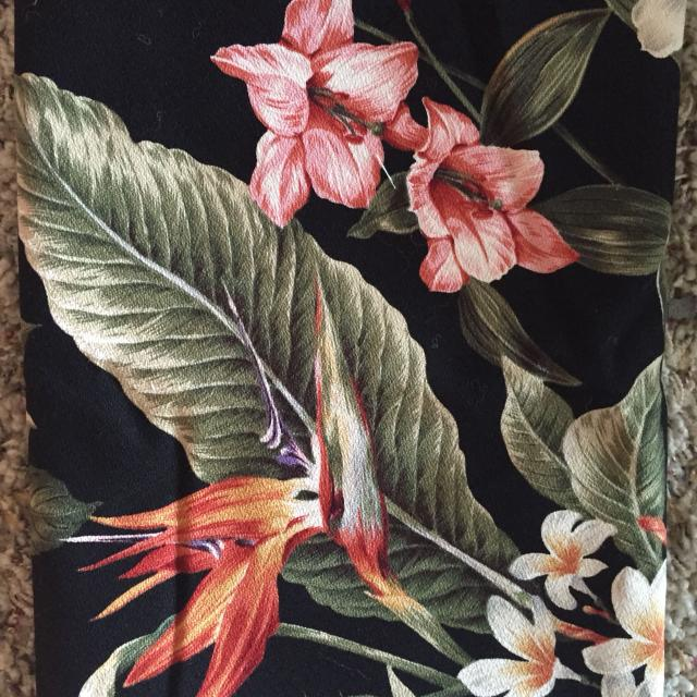Find More Upholstery Tropical Print Fabric With Black Background For