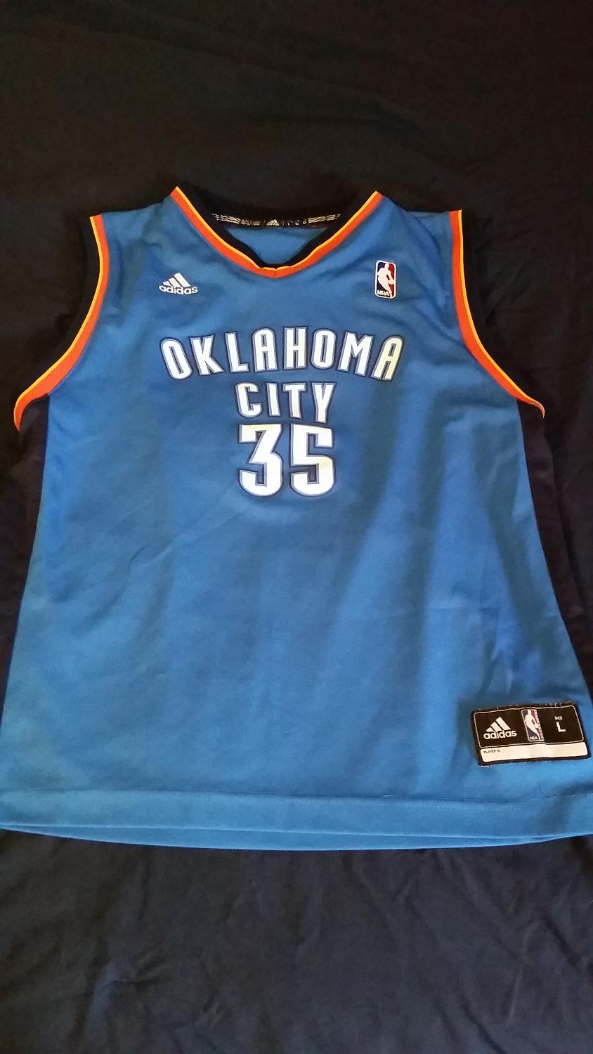 reputable site 9b558 2d410 Kevin Durant OKC Jersey Youth L