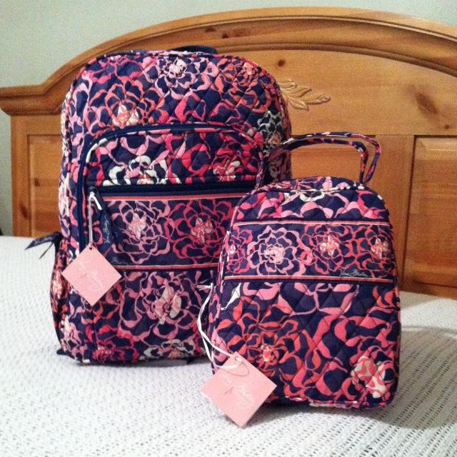 275a43897d Find more Vera Bradley Campus Backpack   Lunch Bunch Set In Katalina ...