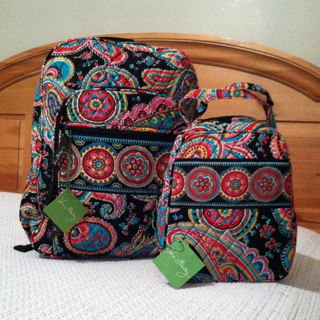 fb2ab83314 Find more Vera Bradley Campus Backpack   Lunch Bunch Set In The New ...