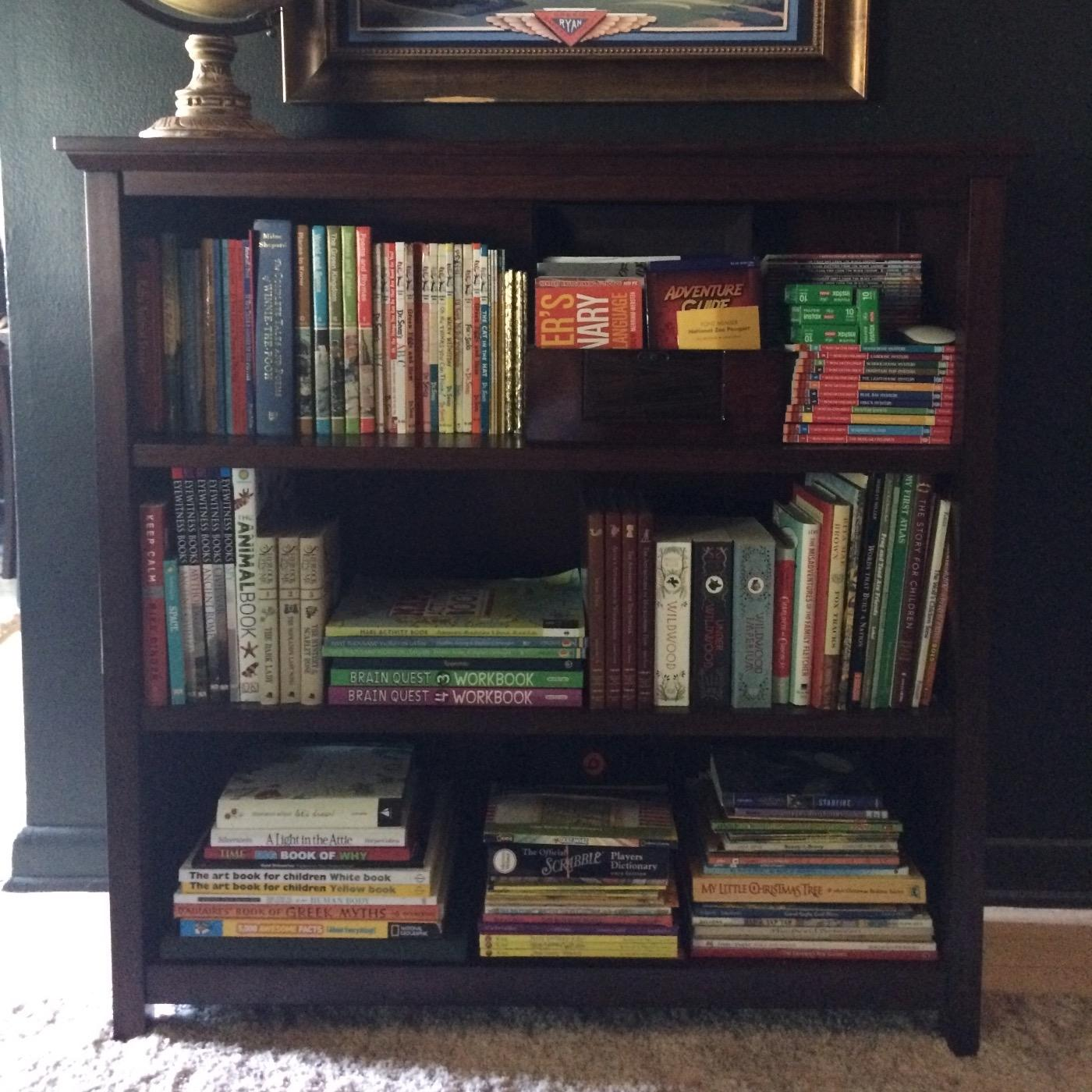 Pottery Barn Kids Cameron 3 Shelf Bookcase In Sun Valley Espresso