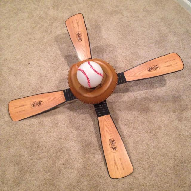 Find more hunter baseball 44 in leather look kids downrod mount hunter baseball 44 in leather look kids downrod mount ceiling fan with light kit aloadofball Image collections