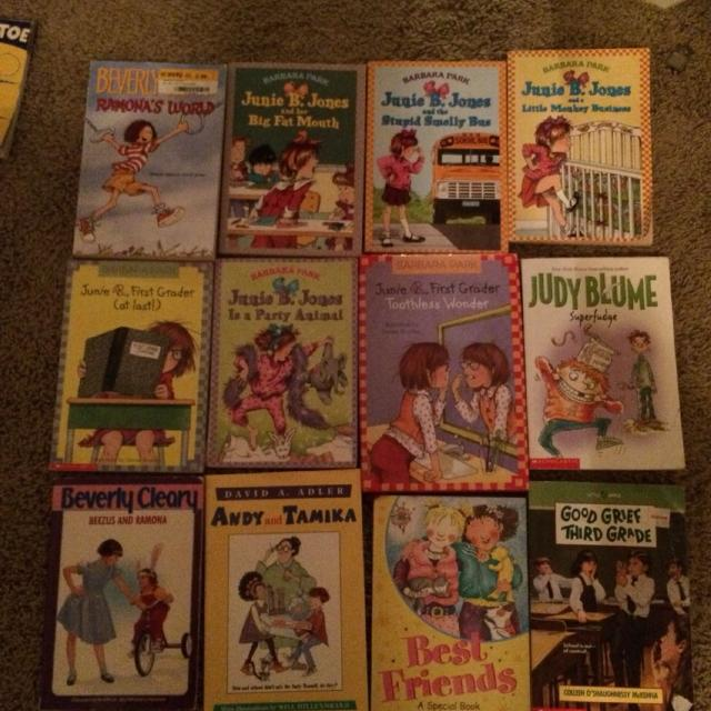 Junie B  Jones, Judy Blume, Beezus and Ramona books  12 books for $7