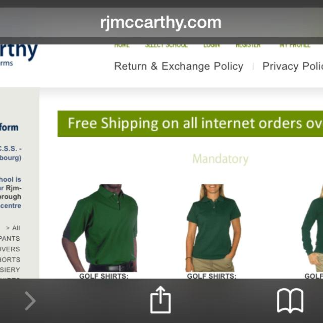 Mccarthy used boys uniforms  St Mary Cobourg