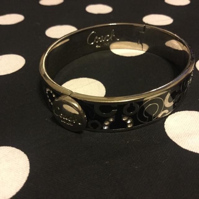 Black And Silver Coach Bracelet 25 Obo