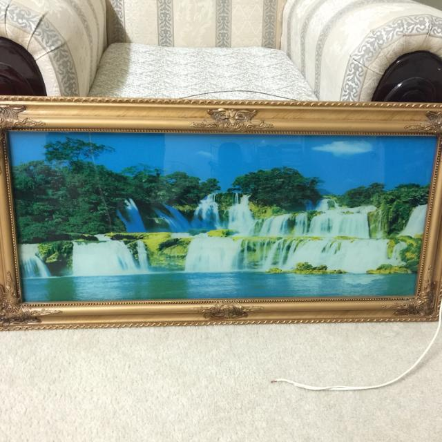 Lighted Waterfall Wall Decor With Nature Sound