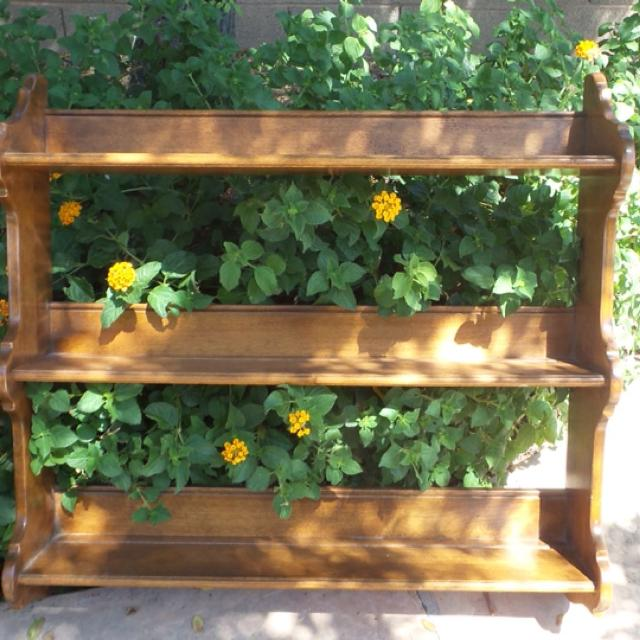 Ethan Allen Vintage Solid Maple Triple Wall Shelf