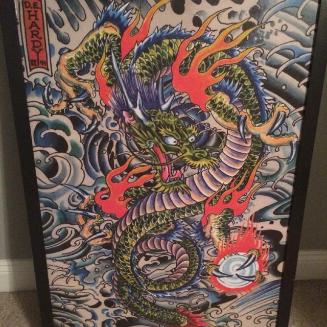 Find more Ed Hardy Dragon Tattoo Wall Art for sale at up to 90% off