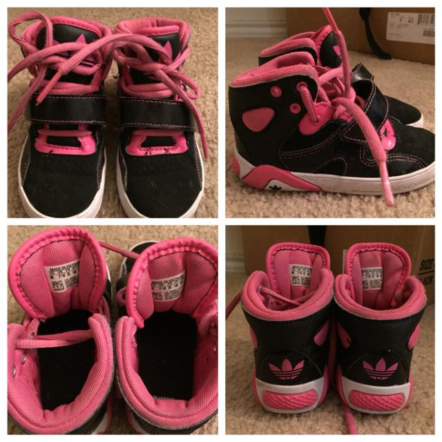 e882fe76733 Best Adidas High Top Toddler Size 8 Girl Shoes (pre-loved) for sale in  Rosenberg