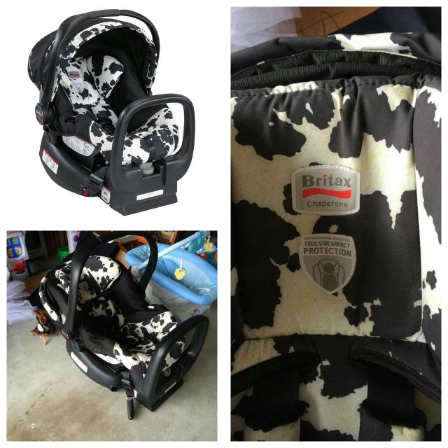 Britax Cowmooflage Infant Car Seat Excellent Condition