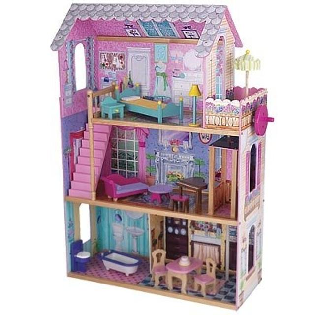 REDUCED PRICE Wooden Barbie doll house with elevator, does not include  furniture nor barbies, has a couple crayon marks but can be taken off