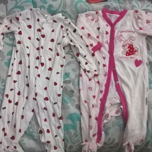 786e77bc8 Find more Baby Girl Pajamas. Ladybug Is 9 Months And Bunny Is 6 ...