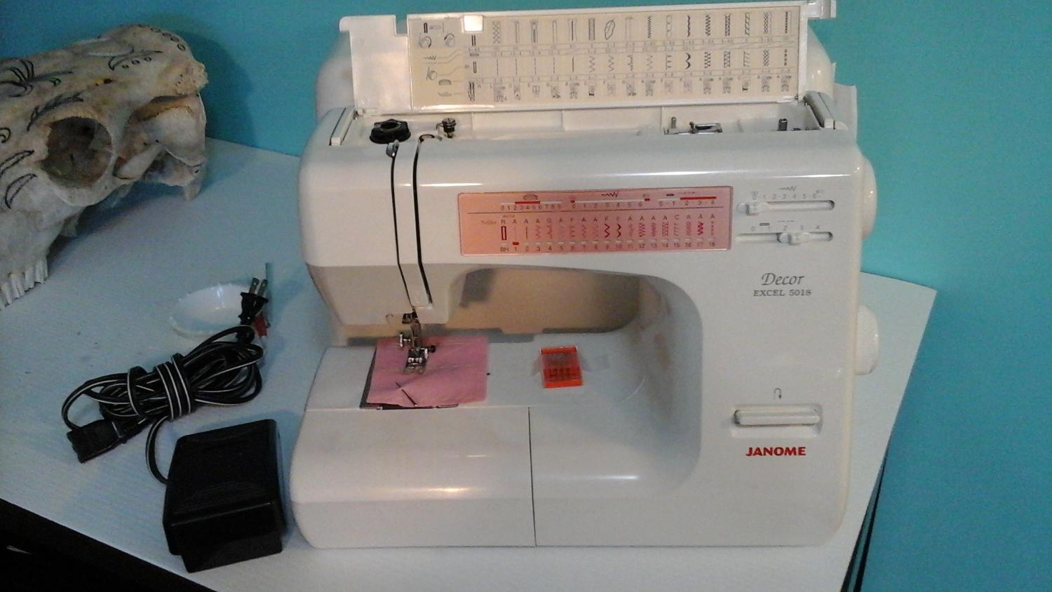 Find more Janome Decor Excel 5018. Excellent Used Condition! for sale at up  to 90% off