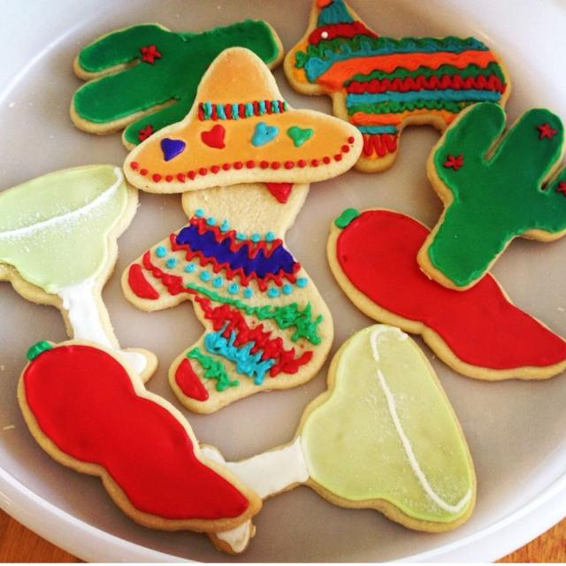 Fiesta themed party supplies- decor, banners, photo booth props, cookie  cutters ++