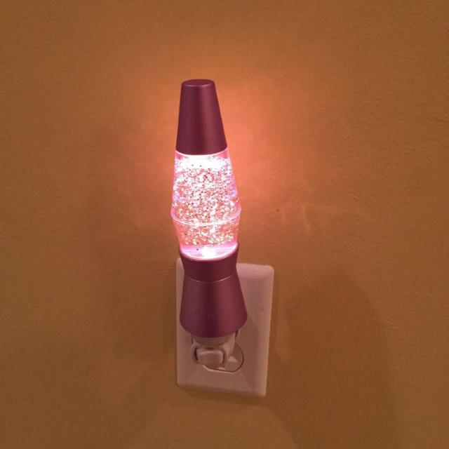 Pink Glitter Lava Lamp Nightlight Heart Pink Basket And Pink Flower Catch All Great For Girls Room Or Bathroom All For 3 Reduced