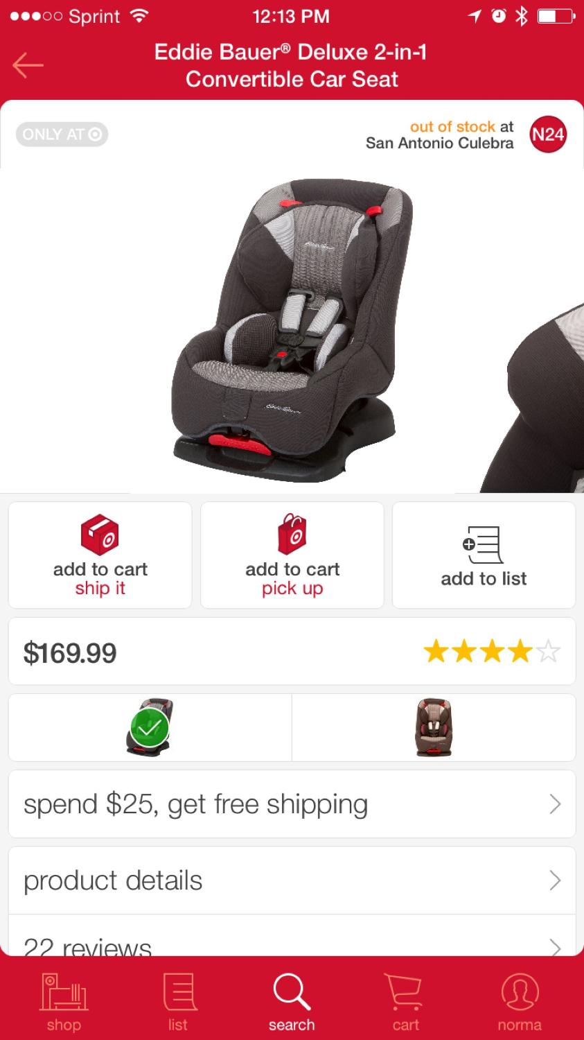 Find More Ed Bauer Deluxe 2 In 1 Car Seat Brand New For At Up To 90 Off