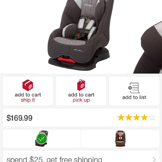 Ed Bauer Deluxe 2 In 1 Car Seat Brand New