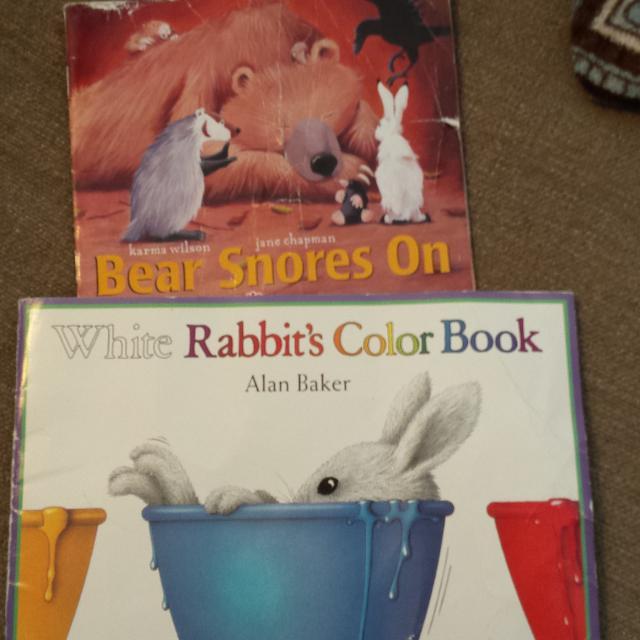 Find more 2 Children\'s Books Soft Cover White Rabbit\'s Color Book ...