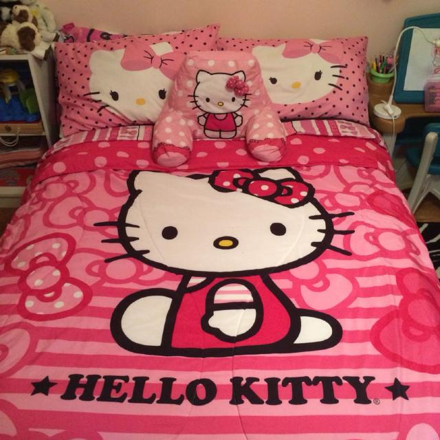Find More Hello Kitty Comforter Fitted Top Sheets 4 Pillow Cases