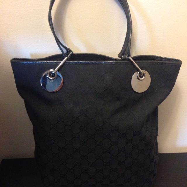 05c208b4af23 Find more Gucci Eclipse Monogram Canvas Tote Bag - Black - 100 ...