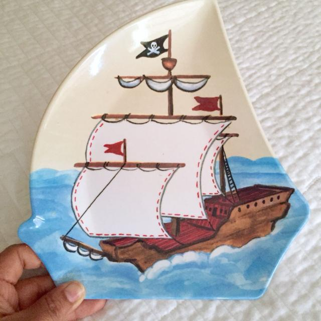 Pirate Party Theme Pottery Barn Ship Plate