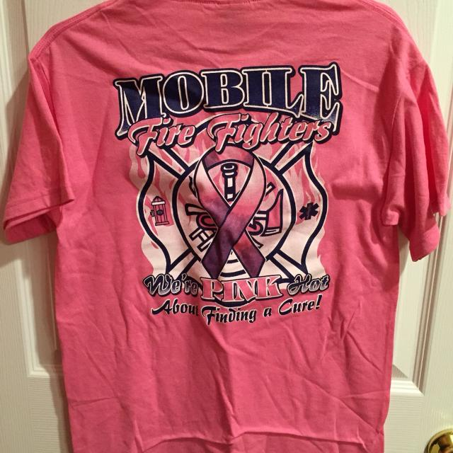 Find More Mobile Fire Department Breast Cancer Awareness T Shirt For