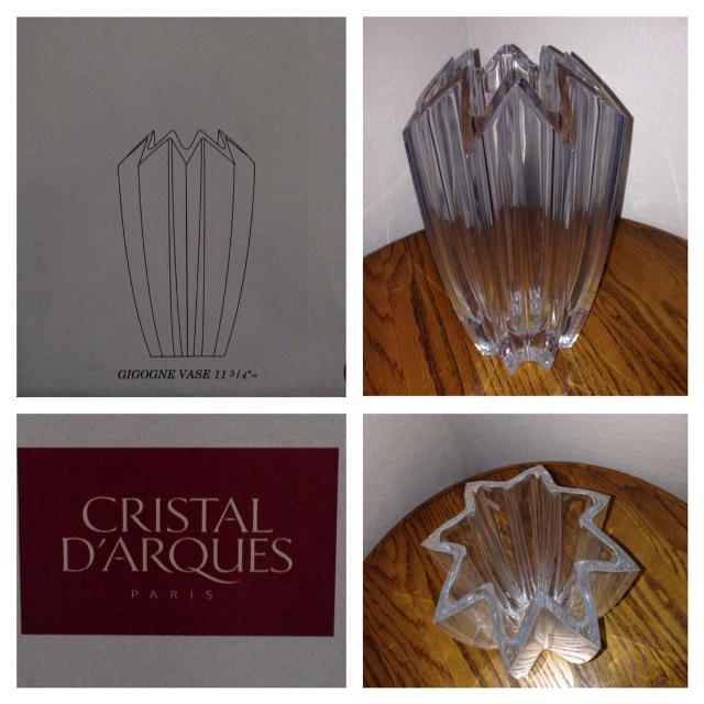 Cristal Darques France Genuine Lead Crystal Vase.Cristal D Arques Crystal Vase