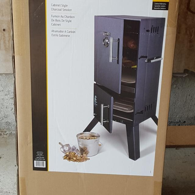 Grillpro Cabinet Style Charcoal Smoker