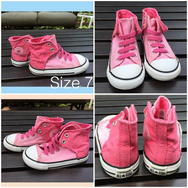 dcd93006af20f2 Find more No Time To Lace Converse All Star Two Tone Pink Hi Tops ...