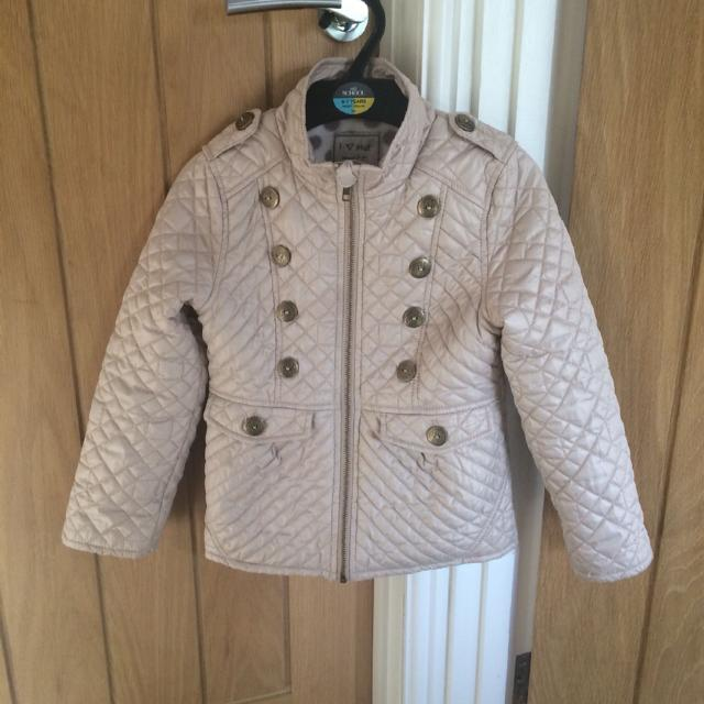 553cc49a1d53 Best From Next Girls Age 5-6 Cream gold Quilted Jacket With Fleece ...