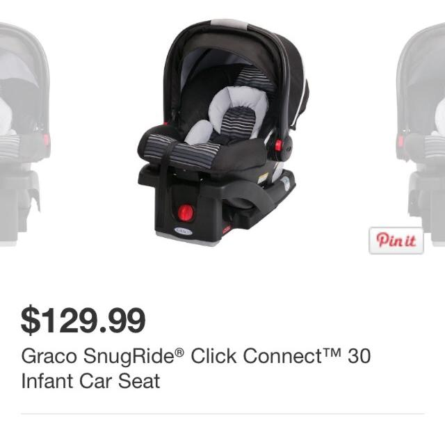 Graco SnugRide Click Connect 30 Light Infant Car Seat Great Condition No Stains Or