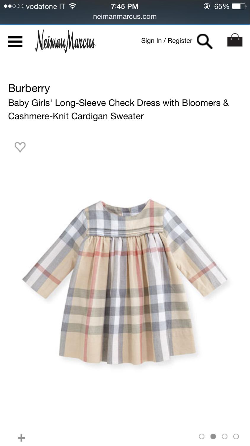 7e00cd5ecc11 Find more Burberry Baby Girl Dress With Bloomers!! So Cute!! More Pics In  Comments for sale at up to 90% off