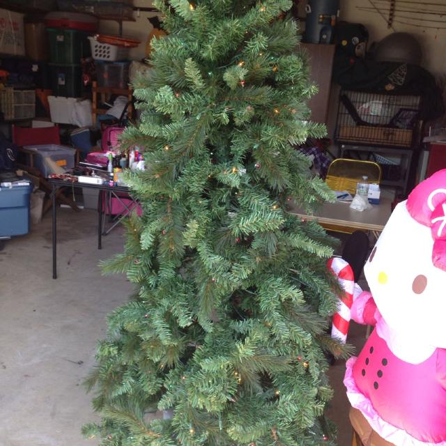 willow pine christmas tree lights are working has its own stand easy up