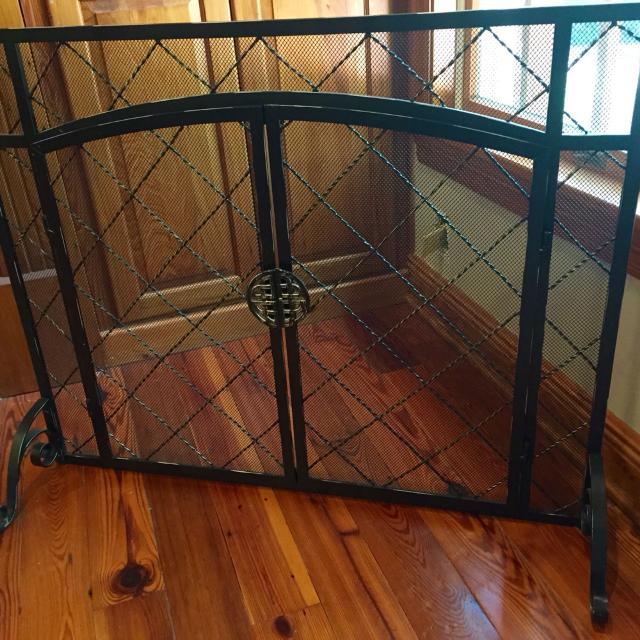 Find More Flat Fireplace Screen With 2 Doors Celtic Knot Handle