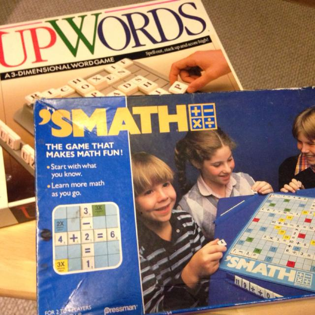 SMATH and UpWords Learning Board Games